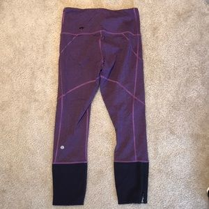 Lulu lemon Speed up tight. Purple herringbone. 6